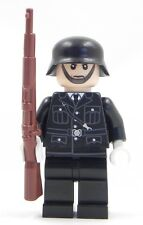 Exclusive print- Genuine Lego part German WW2 SS uniform Nazi Officer minifigure
