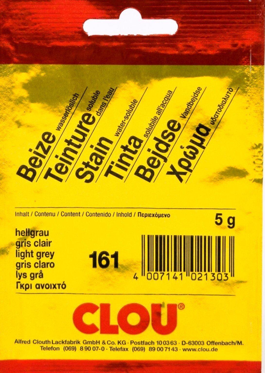clou 161 beize pulver beutelbeize hellgrau 5 g   ebay