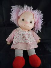 Komfy Kid Doll Vintage 1985 Pink Yarn Hair Pink Nose