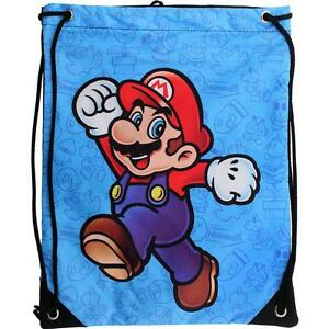 Nintendo-MARIO-CINCH-BAG-Small-Drawstring-wiiu-Backpack-Teen-Boy-Girl-Men-Women