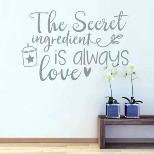 The Secret Ingredient Wall Sticker