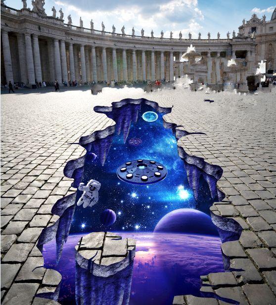 3D Blau, Weltall 6987 Fototapeten Wandbild Fototapete BildTapete Familie DE