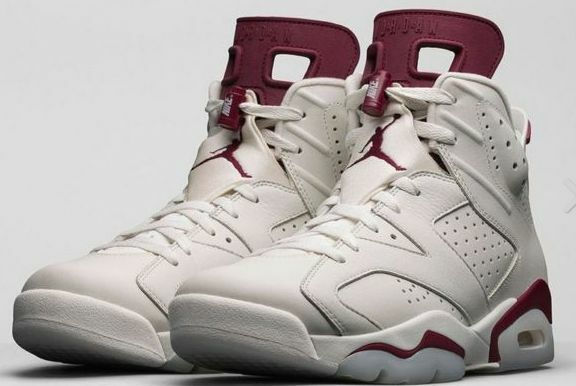 NIKE AIR JORDAN 6 VI OG RETRO MAROON OFF WHITE - 384664-116  MEN SIZE 4Y13