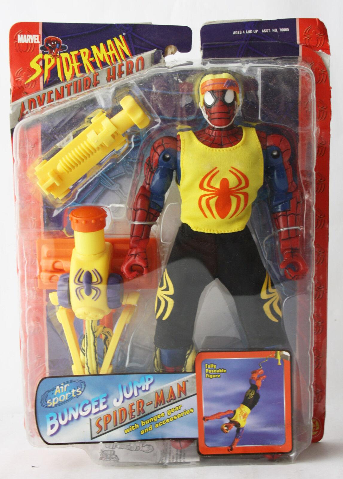 Seltene 2003 spiderman - abenteuer held bungee - jump - spinne abbildung spielzeug - biz neue versiegelt