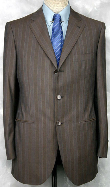 PRIMO_NWT_O1O ISAIA HAND_MADE_WOOL-COTTON-SILK_BLEND_CHOCOLATE_PS 39-40R 12159