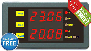 Programmable-Combo-Meter-0-200V-0-50A-Volt-AMP-Battery-Monitor-Capacity-Tester