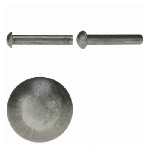 Stahl blank 50x DIN 660 Halbrundniete 8x22