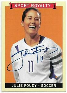 JULIE FOUDY (Soccer) 2008 Upper Deck Sport Royalty Autograph Card (On Card Auto)
