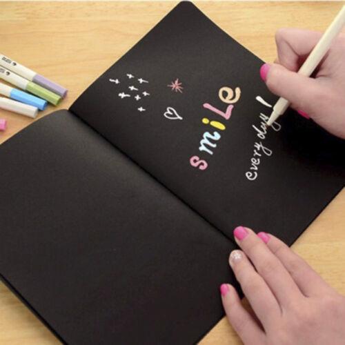 Schwarzes Graffiti-Notizbuch-Skizzenbuch-Tagebuch des Papier-56K für das Ma L4T5