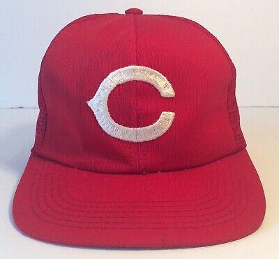 Vtg Cincinnati Reds Snapback hat cap 80s 90s ZUBAZ MLB Baseball Twins Inc Tags