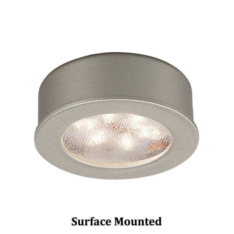 WAC botón rojoondo LED luz 3000K blancoo Suave, níquel cepillado-HR-LED87-27-BN