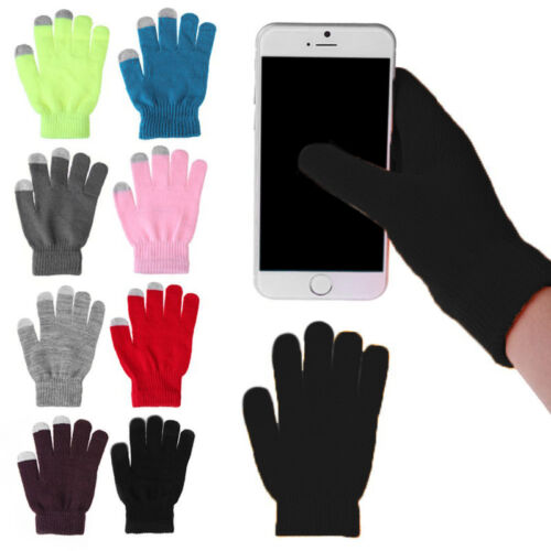 Winter Mens Womens Screen Gloves Texting Capacitive Smartphone Knit Gloves Ullm
