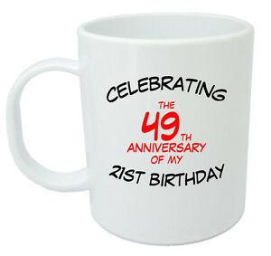 Celebrating 70th Mug - 70th Birthday