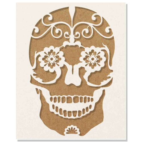 Calavera sugar skull stencil Reusable Template