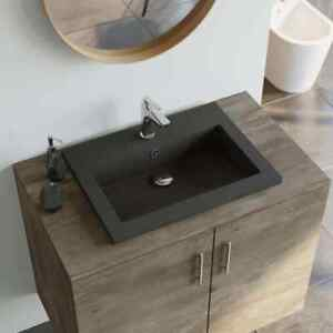 Details About Vidaxl Granite Basin White Above Counter Bathroom Cloakroom Wash Sink Bowl