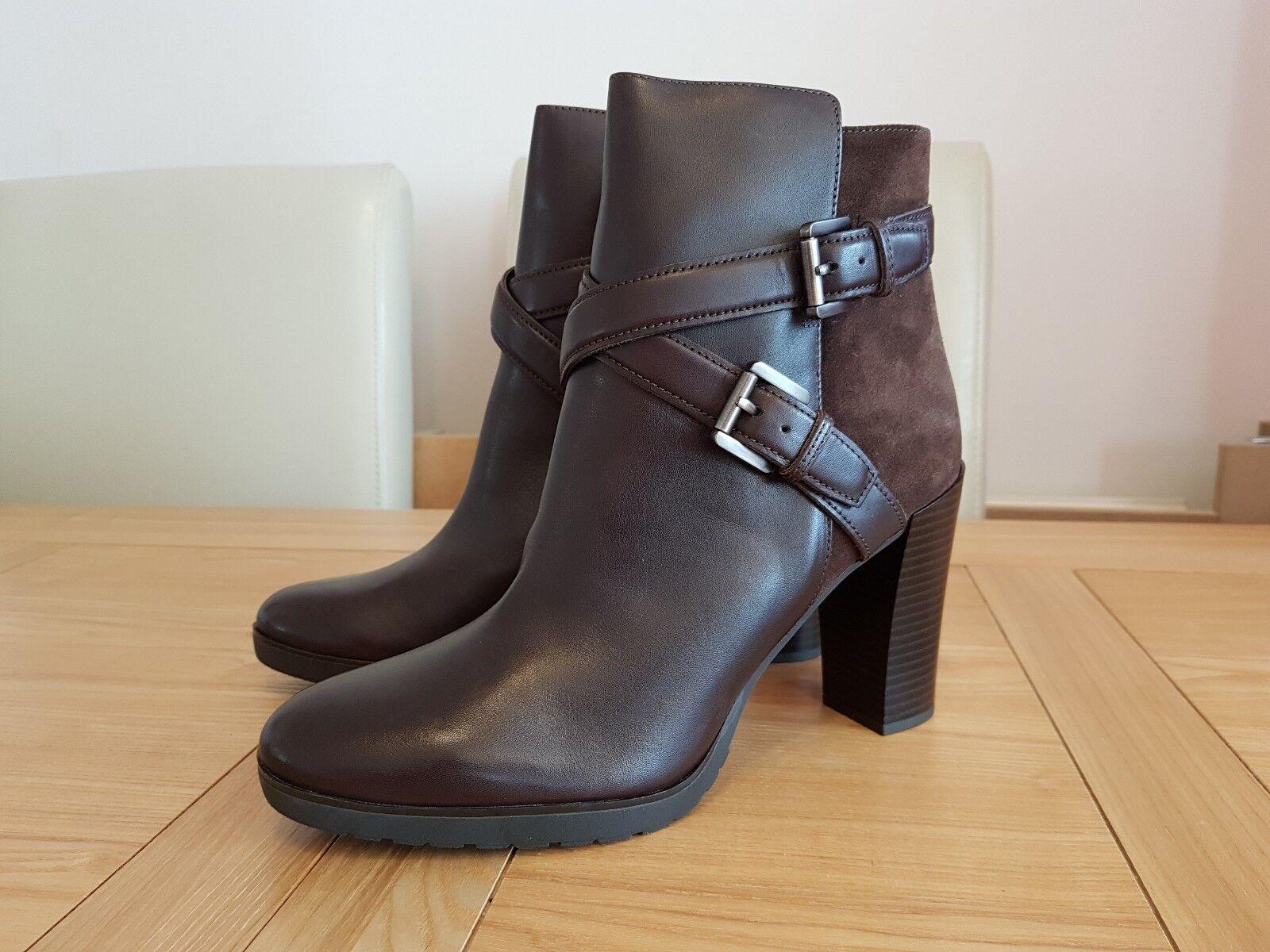 Geox Damenschuhe Respira Amphibiox Raphal A Damenschuhe Braun Leder Suede Ankle Stiefel