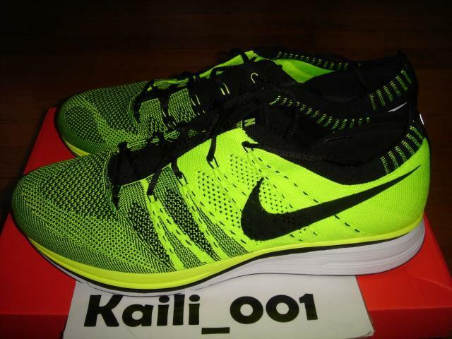 Nike Flyknit Trainer+ Size 11.5 Volt 532984-700 HTM Multi color B
