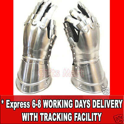 Medieval Knight Gauntlets Functional Armor Gloves  Re-enactment Role-Play Glove