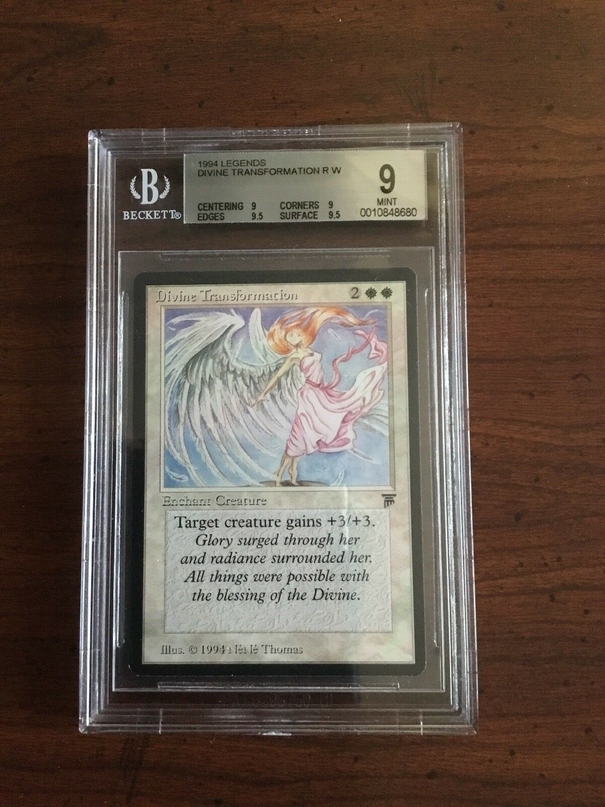 MTG Legends Divine Transformation BGS 9 MINT Magic the Gathering card 8680