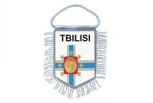 Flagge Mini Flagge Land Auto Deko Souvenir Wappen Tbilisi Georgia Mini