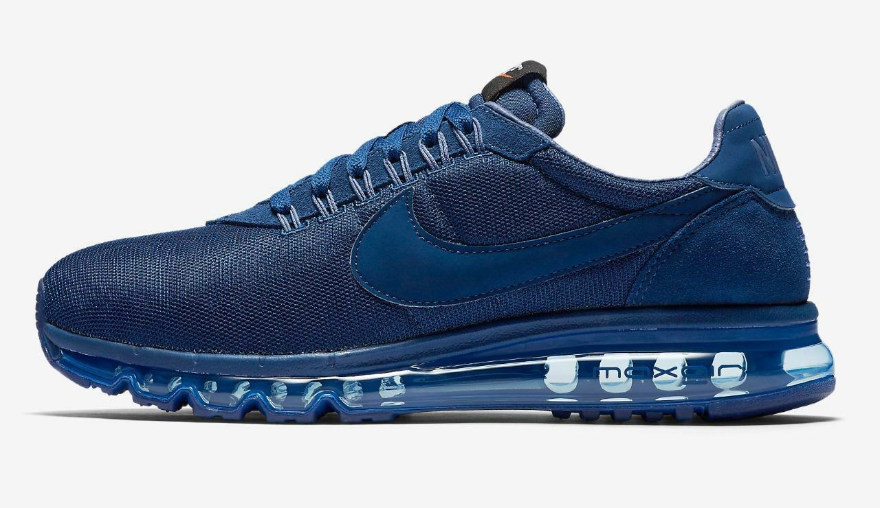 NIKE AIR MAX LD-ZERO 848624 400 TRIPLE ALL COASTAL NAVY blueE - SUEDE MESH