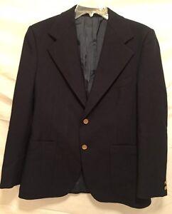 ebde7962452 YVES ST. LAURENT Men's Vintage France Navy/Black Jacket/Blazer Gold ...