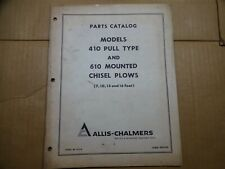Allis Chalmers Model 410 610 Chisel Plow Pull Type Mounted Parts Manual Catalog