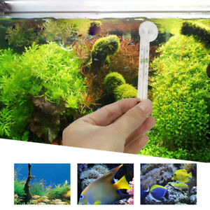 2X-New-Glass-Meter-Aquarium-Fish-Tank-Water-Temperature-Thermometer-Suction-Cup