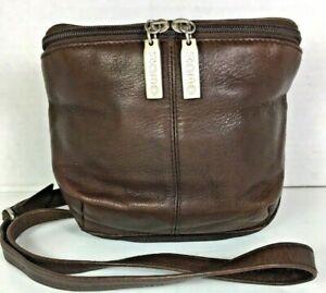 Hobo-International-Small-Brown-Leather-Crossbody-Wallet-Shoulder-Bag-Distressed