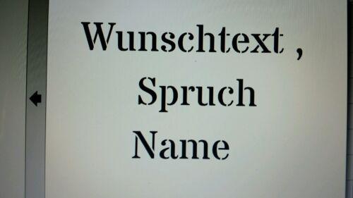 Schablone Wunschtext auf A4 Name usw Spruch