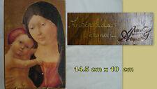 """ICONE   sur bois **ATELIER ANNETTE AVIGNON**14.5 x 10 cm"""" vintage"""""""