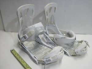 Burton-Mission-Snowboard-Bindings-White-Size-L-Large-Mens-10-13-Womens-11-14