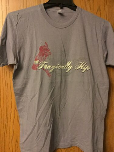 Tragically Hip.  Gray Shirt.  M.