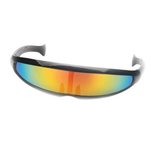 5x Erwachsene Kinder Neuheit Futuristische Zyklop Gespiegelte Sonnenbrille
