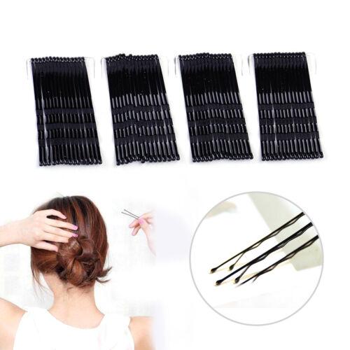 60 Stück Schwarz Unsichtbare Haar Klammer Klipp Flat Top Bobby Pins Grips Salon