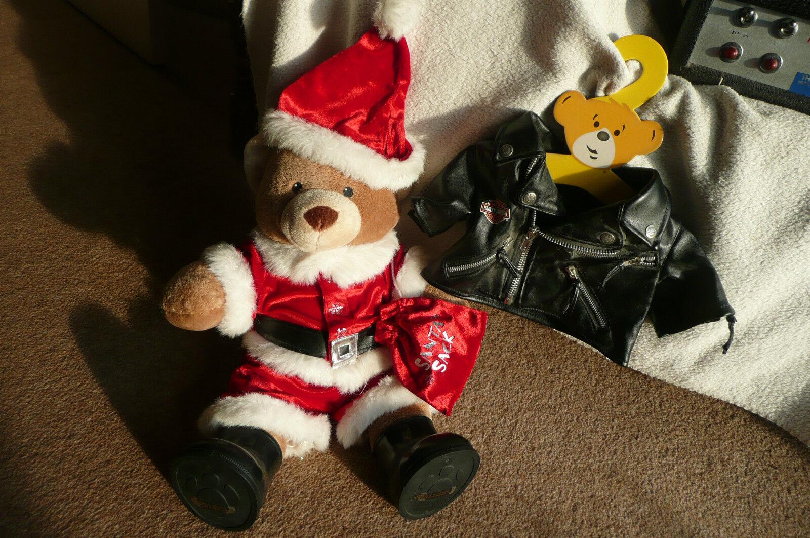 HARLEY Davidson Giacca e Santa Build A Bear