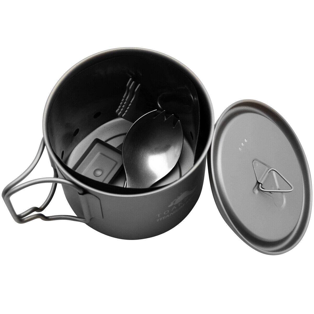 TOAKS Ultralight Titanium Solid Fuel Cook System CS-01 - Outdoor Camping