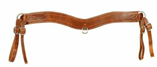 Showman HARNESS LEATHER Barbwire Tooled 3.5  Wide TRIPPING COLLAR Made in USA