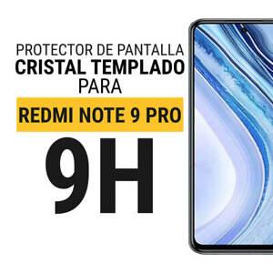Sentete® Xiaomi Redmi Note 9 Pro Protector de Pantalla Cristal Templado PREMIUM