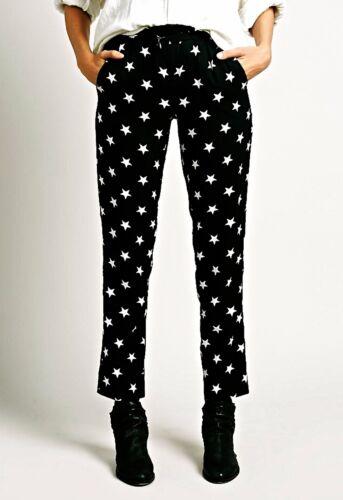 Blanc Pantalon Étoile Xs Imprimé Nwt Blanc Harlyn Noir wXqx5nnCt1