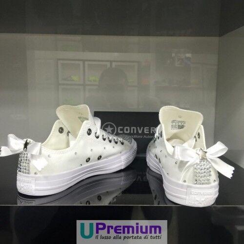 Converse All Star 100% Swarovski Zapatos Borchiate ORIGINALI 100% Star ® ITALIA 2017 Borchi f2aa23