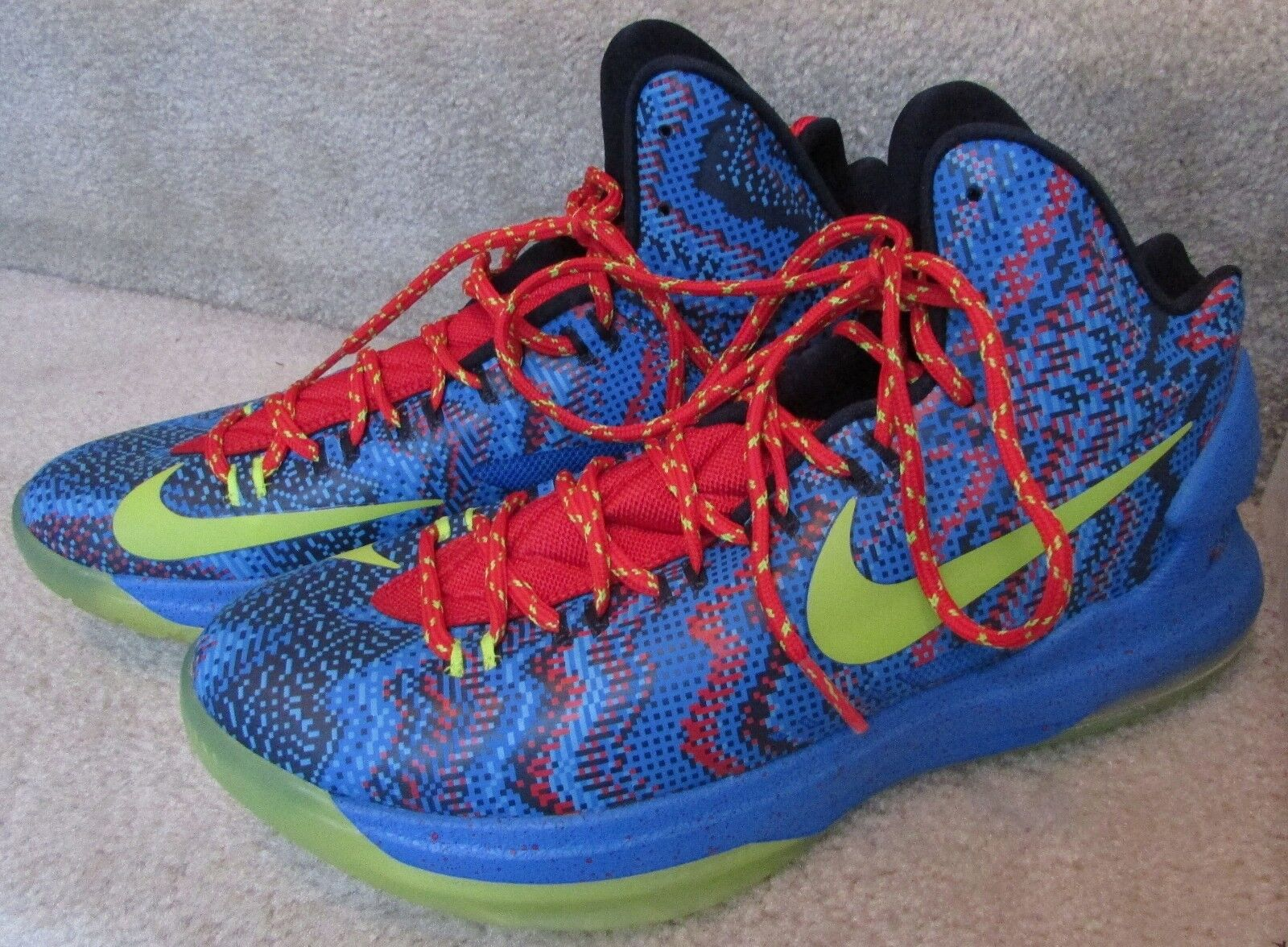 2018 Nike Zoom KEVIN DURANT KD V Christmas Day Blue/Green/Red 554988-401 Sz 9
