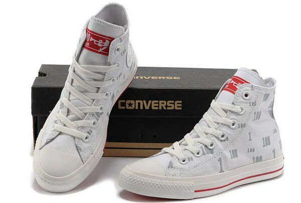 Converse Chuck Taylor All Star Blanco High Tops, - Rojo SOLES- LIMITED EDITION - Tops, NEW 874be9