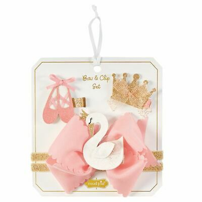 Mud Pie Girl/'s  Holiday Glitter Clip Headband Set Five Piece Set  NEW