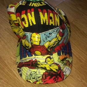 Medium The Avengers Iron Man Adjustable Hat Marvel Comics Brand New Small