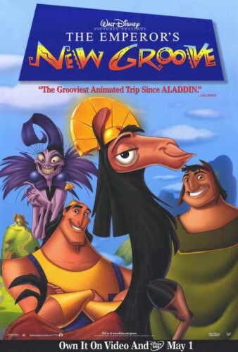 THE EMPEROR/'S NEW GROOVE Movie POSTER 27x40 David Spade John Goodman Eartha Kitt