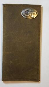 ZEP-PRO Georgia Tech Yellow Jackets Waxed Canvas Trifold Wallet TIN GIFT BOX