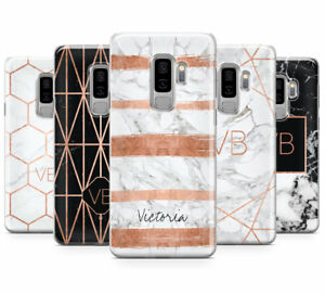 los angeles 55d88 1c4c1 Details about PERSONALISED ROSEGOLD MARBLE/INITIALS MOBILE PHONE CASE FOR  SAMSUNG GALAXY S9