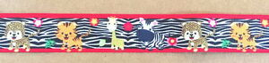 ZEBRA-BABY-ANIMALS-1-034-Grosgrain-Ribbon-By-the-yard-for-Scrapbooking-Hair-Bows