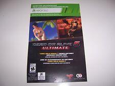 Dead or Alive 5 Ultimate Yaiba: Ninja Gaiden 2 Xbox 360 DLC Code Card